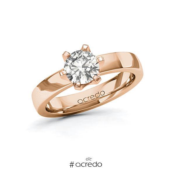 Verlobungsring in Rotgold 585 mit 1 ct. tw, si von acredo