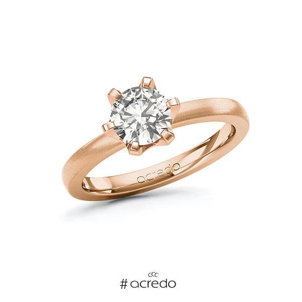 Verlobungsring in Rotgold 585 mit 1 ct. tw, vs von acredo