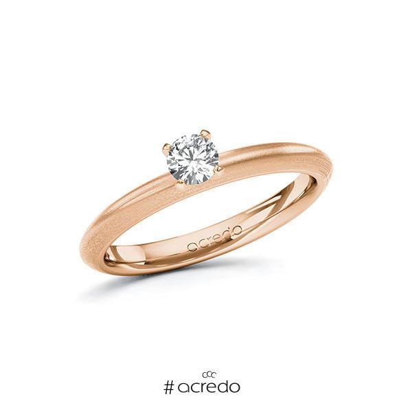 Verlobungsring in Rotgold 585 mit zus. 0,25 ct. Brillant tw, si von acredo