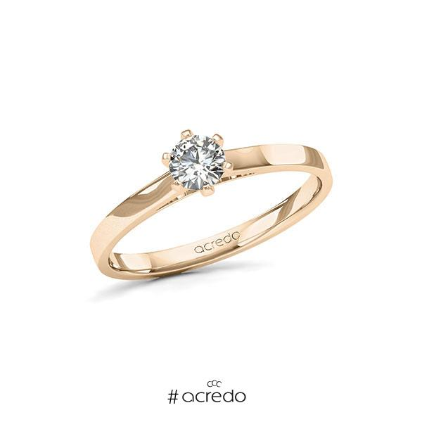 Verlobungsring in Signature Gold 585 mit 0,3 ct. Brillant tw, si von acredo