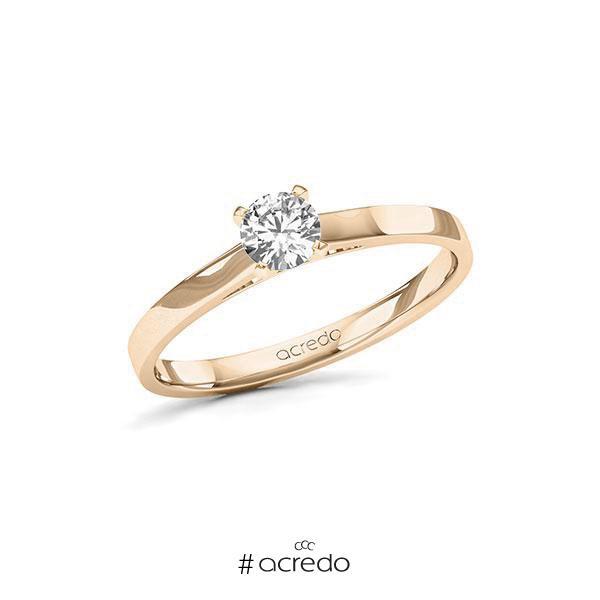Verlobungsring in Signature Gold 585 mit 0,3 ct. Brillant tw, si von acredo