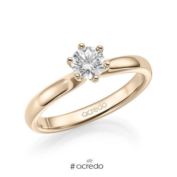 Verlobungsring in Signature Gold 585 mit 0,4 ct. Brillant tw, si von acredo
