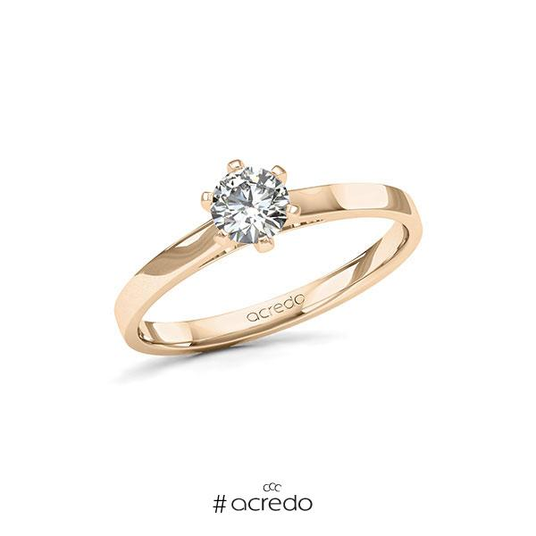 Verlobungsring in Signature Gold 585 mit 0,4 ct. Brillant tw, si von acredo
