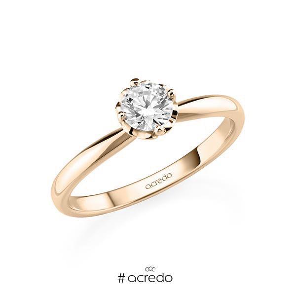 Verlobungsring in Signature Gold 585 mit 0,5 ct. Brillant tw, si von acredo