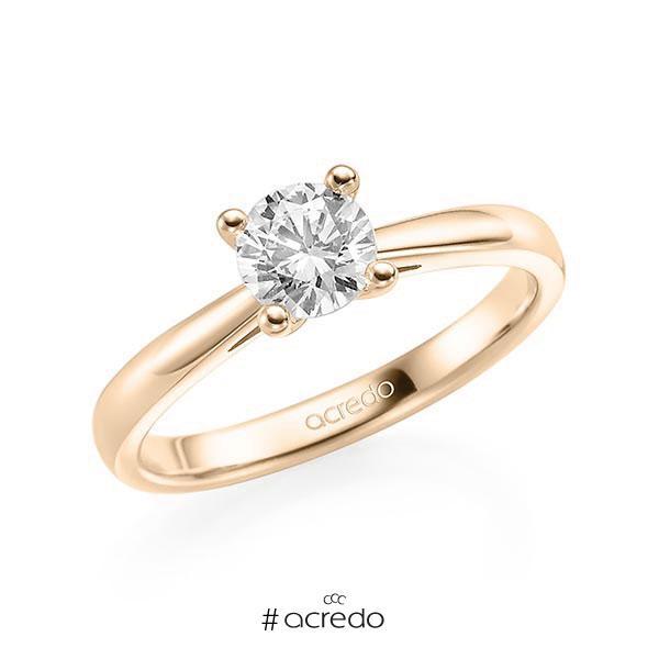 Verlobungsring in Signature Gold 585 mit 0,7 ct. Brillant tw, si von acredo