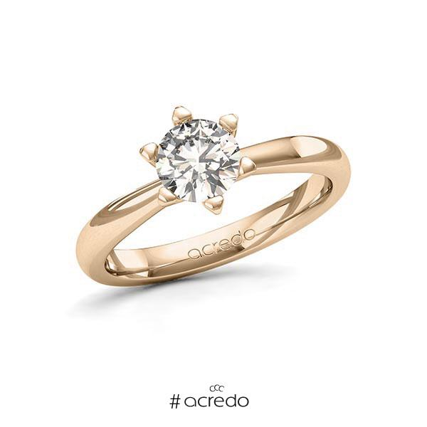 Verlobungsring in Signature Gold 585 mit 1 ct. Brillant tw, si von acredo
