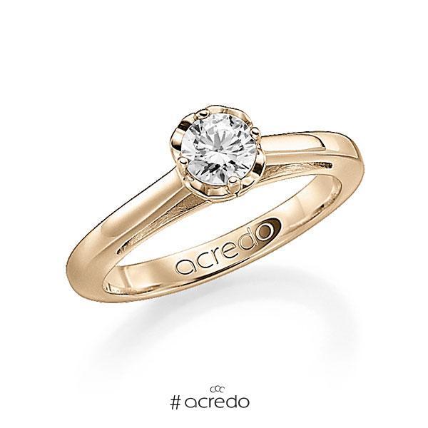 Verlobungsring in Signature Gold 585 mit 1 ct. Brillant tw, si von acredo