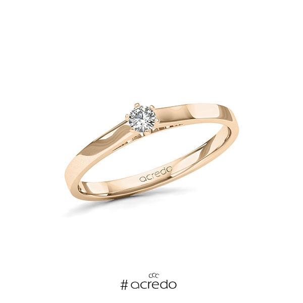 Verlobungsring in Signature Gold 585 mit zus. 0,12 ct. Brillant tw, si von acredo
