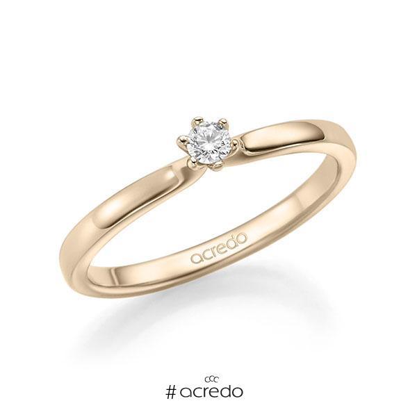 Verlobungsring in Signature Gold 585 mit zus. 0,1 ct. Brillant tw, si von acredo