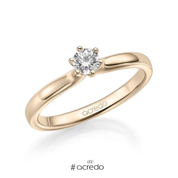 Verlobungsring in Signature Gold 585 mit zus. 0,25 ct. Brillant tw, si von acredo