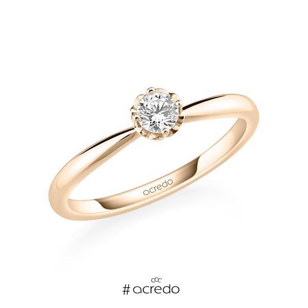 Verlobungsring in Signature Gold 585 mit zus. 0,2 ct. Brillant tw, si von acredo