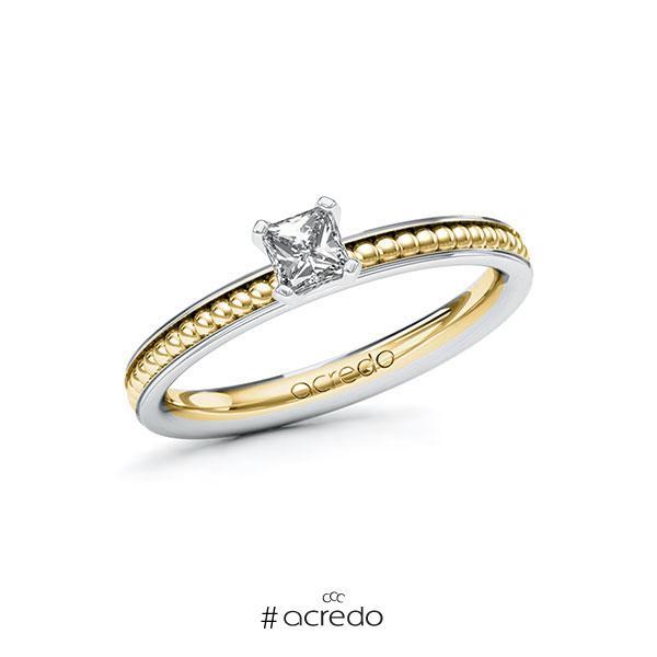 Verlobungsring in Weißgold 585 Gelbgold 585 mit 0,3 ct. Brillant tw, vs von acredo