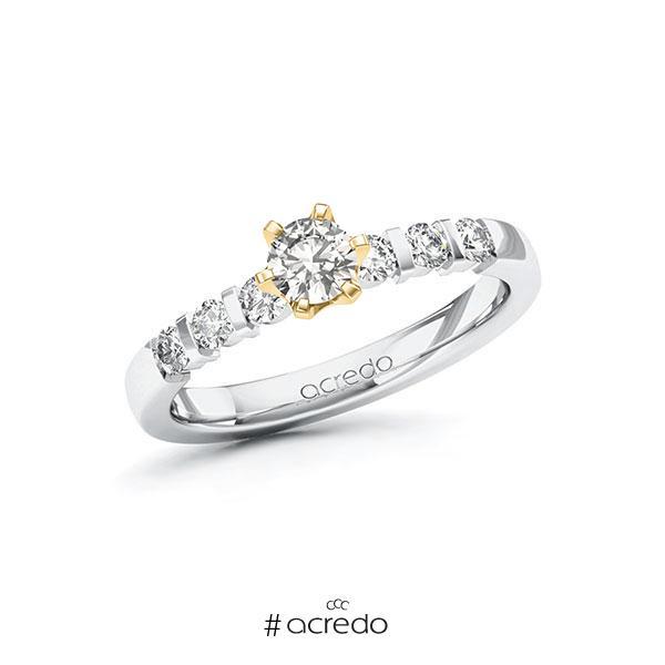 Verlobungsring in Weißgold 585 Gelbgold 585 mit 0,3 ct. + zus. 0,3 ct. tw, vs tw, si von acredo
