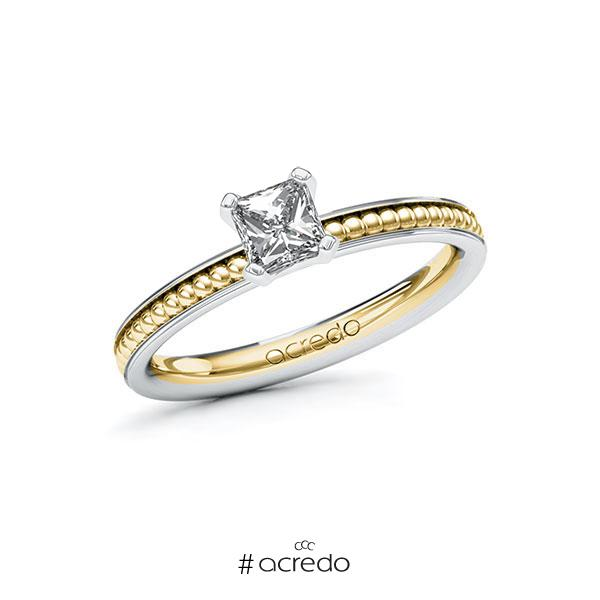 Verlobungsring in Weißgold 585 Gelbgold 585 mit 0,5 ct. Brillant tw, vs von acredo