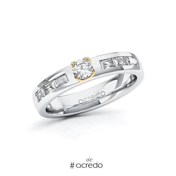 Verlobungsring in Weißgold 585 Gelbgold 585 mit zus. 0,68 ct. Brillant tw, si tw, vs von acredo
