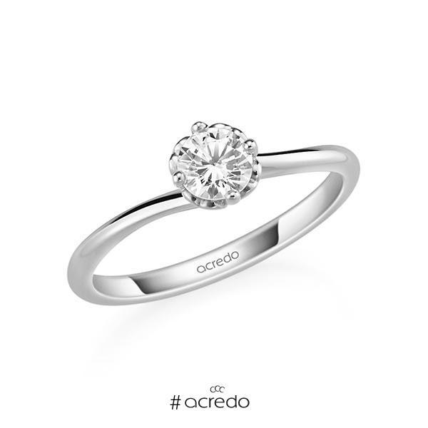 Verlobungsring in Weißgold 585 mit 0,4 ct. Brillant tw, si von acredo