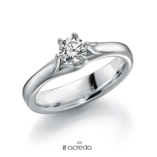 Verlobungsring in Weißgold 585 mit 0,4 ct. Brillant tw, vs von acredo