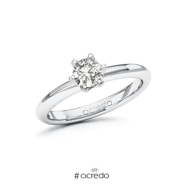 Verlobungsring in Weißgold 585 mit 0,5 ct. tw, si von acredo