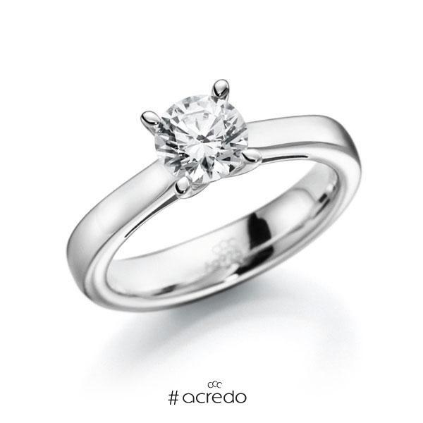 Verlobungsring in Weißgold 585 mit 0,7 ct. Brillant w, si von acredo
