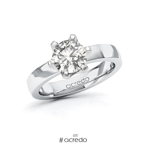 Verlobungsring in Weißgold 585 mit 1,5 ct. tw, si von acredo