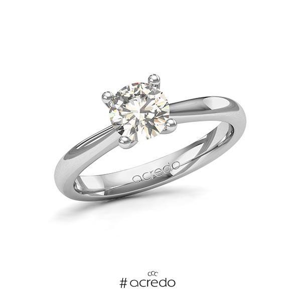 Verlobungsring in Weißgold 585 mit 1 ct. Brillant tw, si von acredo