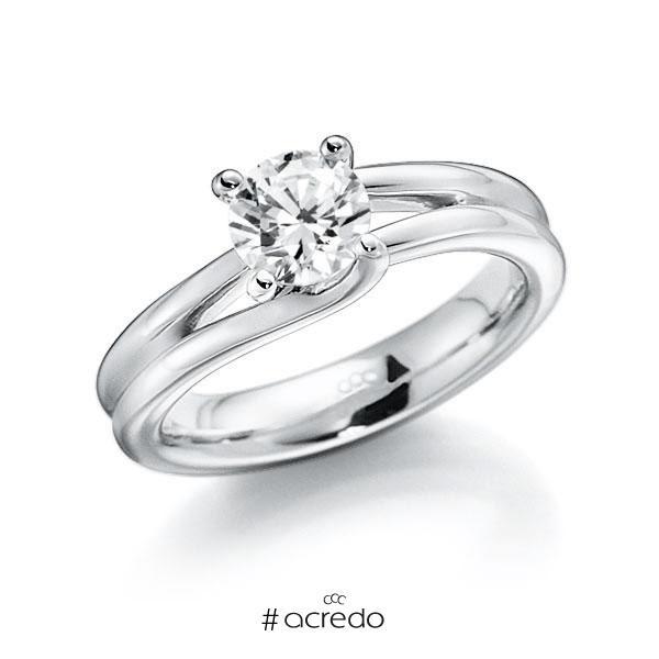 Verlobungsring in Weißgold 585 mit 1 ct. Brillant tw, vs von acredo