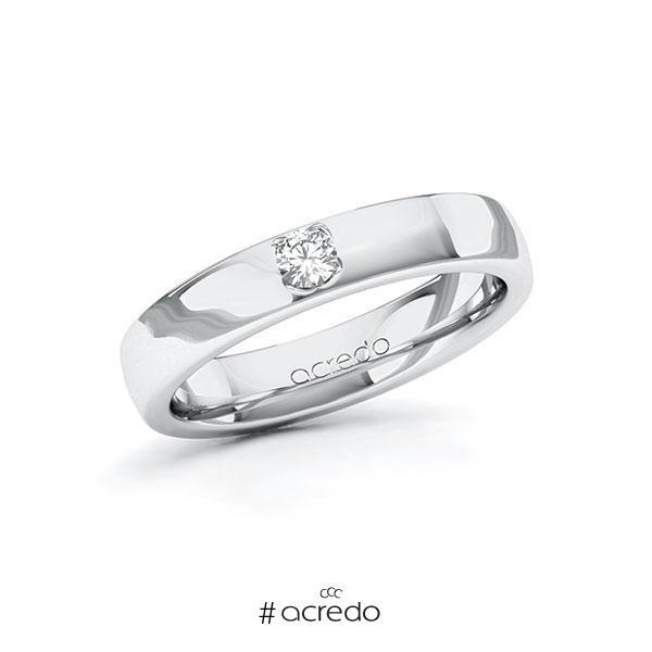Verlobungsring in Weißgold 585 mit zus. 0,1 ct. Brillant tw, si von acredo