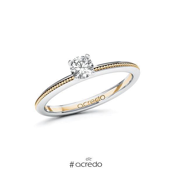 Verlobungsring in Weißgold 585 Roségold 585 mit 0,3 ct. Brillant tw, si von acredo