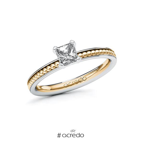 Verlobungsring in Weißgold 585 Roségold 585 mit 0,5 ct. Brillant tw, vs von acredo
