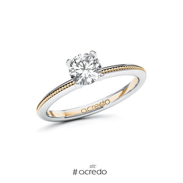 Verlobungsring in Weißgold 585 Roségold 585 mit 0,7 ct. Brillant tw, si von acredo