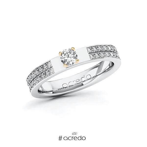 Verlobungsring in Weißgold 585 Roségold 585 mit zus. 0,56 ct. Brillant tw, si von acredo