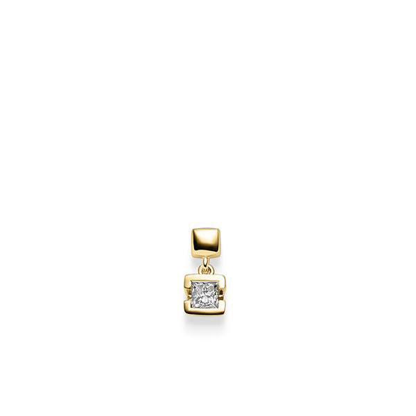 Anhänger in Gelbgold 585 mit 0,3 ct. Prinzess-Diamant tw, vs von acredo - A-X46UG-G5-1JUFTWZ