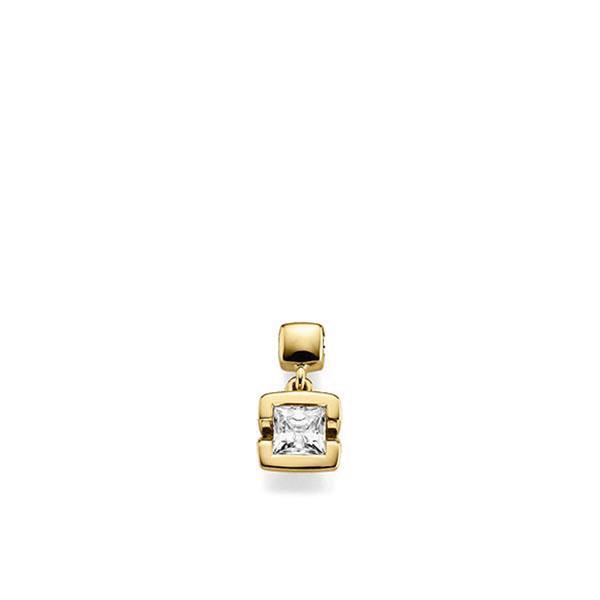 Anhänger in Gelbgold 585 mit 0,4 ct. Prinzess-Diamant tw, vs von acredo - A-X46W6-G5-1KJQ06Z