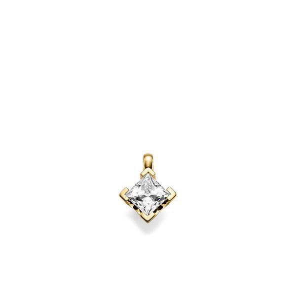Anhänger in Gelbgold 585 mit 0,7 ct. Prinzess-Diamant tw, vs von acredo - A-XESR6-G5-1JUILLZ