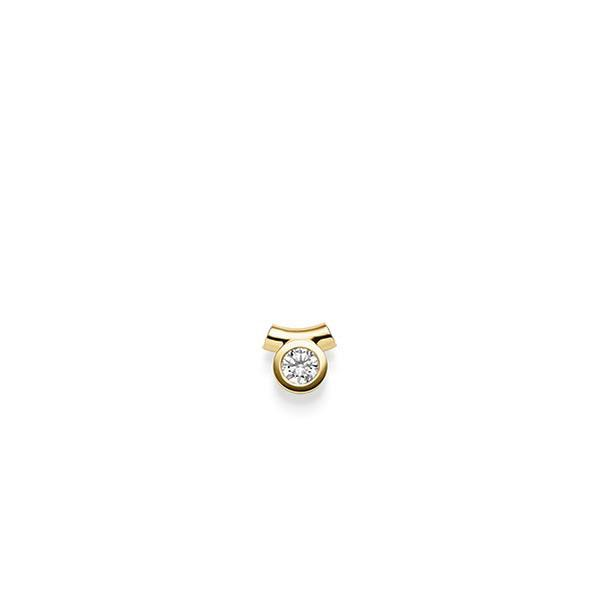 Anhänger in Gelbgold 585 mit zus. 0,25 ct. Brillant tw, si von acredo - A-WX026-G5-2LGIYZ