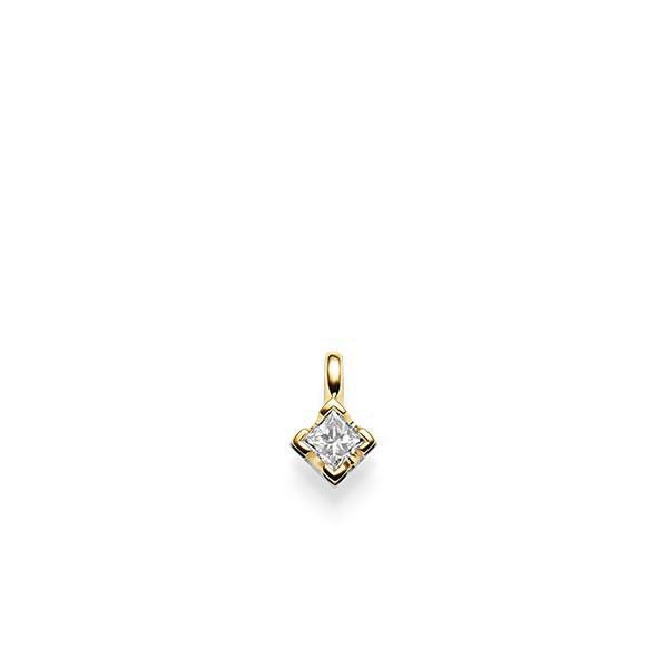 Anhänger in Gelbgold 585 mit zus. 0,2 ct. Prinzess-Diamant tw, si von acredo - A-X2TXB-G5-1KVG86Z