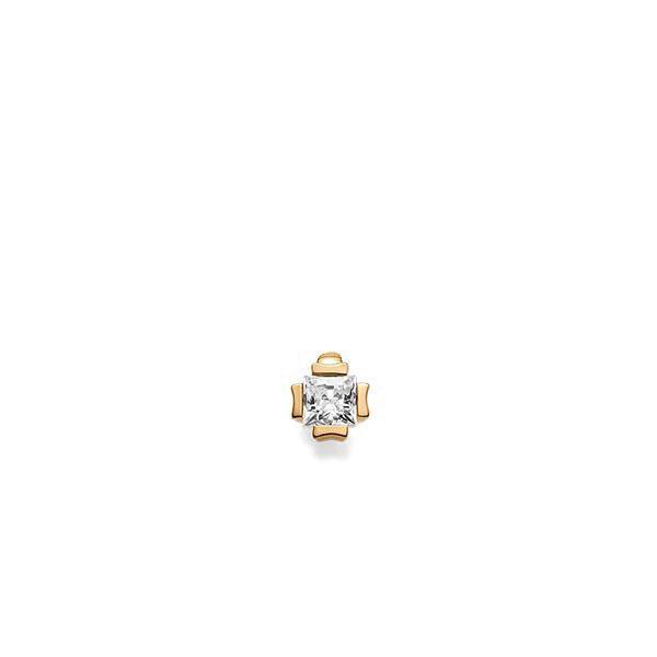 Anhänger in Roségold 585 mit 0,3 ct. Prinzess-Diamant tw, vs von acredo - A-UFZBR-E5-1JUFTWZ