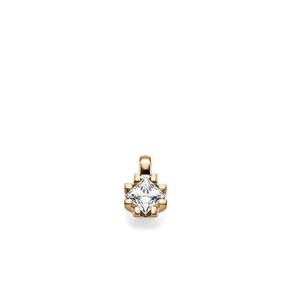 Anhänger in Roségold 585 mit 0,7 ct. Prinzess-Diamant tw, vs von acredo - A-X5BZ1-E5-1JUILLZ