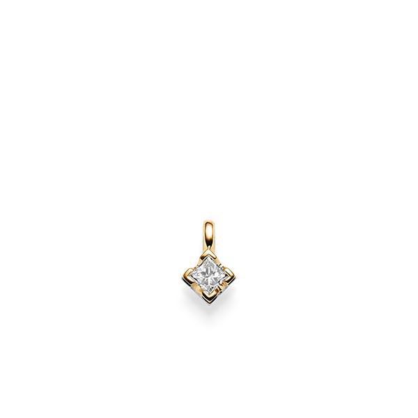 Anhänger in Roségold 585 mit zus. 0,25 ct. Prinzess-Diamant tw, si von acredo - A-X2UMR-E5-1JSUPBZ