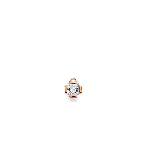 Anhänger in Rotgold 585 mit 0,3 ct. Prinzess-Diamant tw, vs von acredo - A-XEPY6-R5-1JUFTWZ