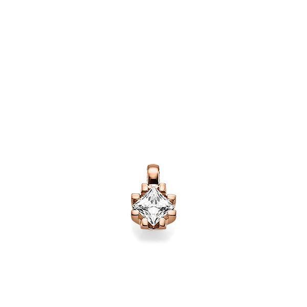Anhänger in Rotgold 585 mit 0,7 ct. Prinzess-Diamant tw, vs von acredo - A-X5BXB-R5-1JUILLZ
