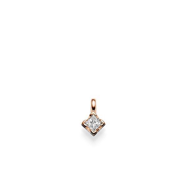 Anhänger in Rotgold 585 mit zus. 0,25 ct. Prinzess-Diamant tw, si von acredo - A-X2UPG-R5-1JSUPBZ