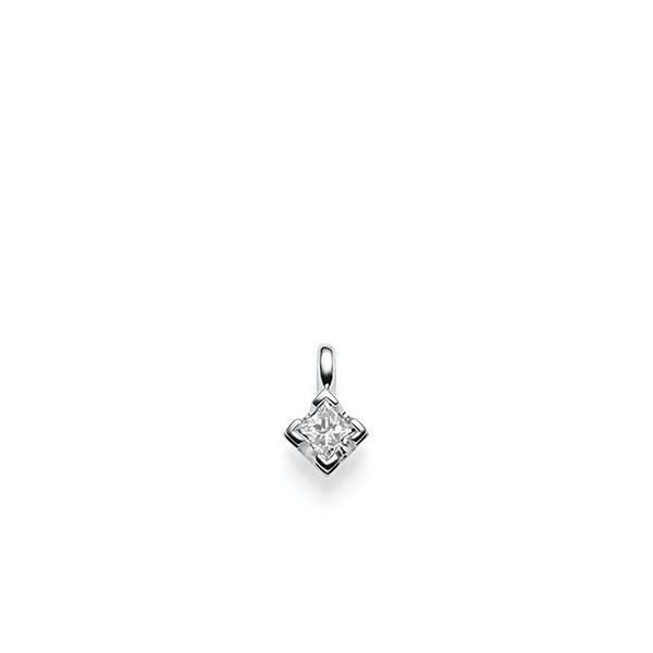 Anhänger in Weissgold 585 mit 0,3 ct. Prinzess-Diamant tw, vs von acredo - A-X2U06-W5-1JUFTWZ
