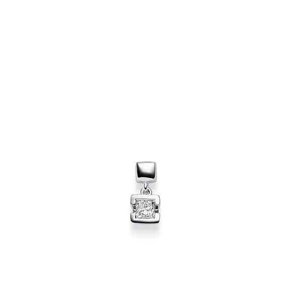 Anhänger in Weißgold 585 mit 0,3 ct. Prinzess-Diamant tw, vs von acredo - A-X46H6-W5-1JUFTWZ