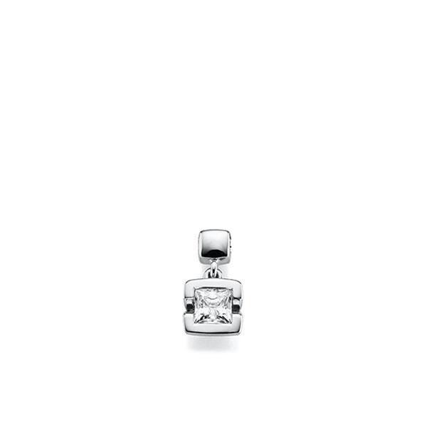 Anhänger in Weißgold 585 mit 0,4 ct. Prinzess-Diamant tw, vs von acredo - A-X46IW-W5-1KJQ06Z
