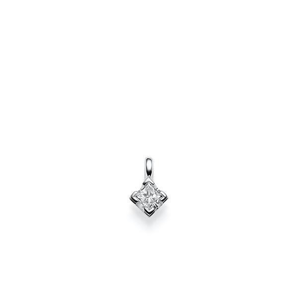 Anhänger in Weißgold 585 mit zus. 0,2 ct. Prinzess-Diamant tw, vs von acredo - A-X2TYR-W5-1KVGB1Z