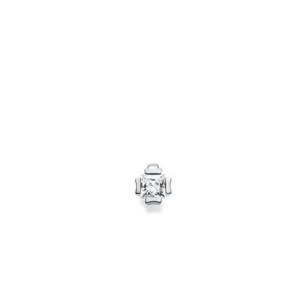 Anhänger in Weissgold 585 mit zus. 0,2 ct. Prinzess-Diamant tw, vs von acredo - A-XEWE6-W5-1KVGB1Z