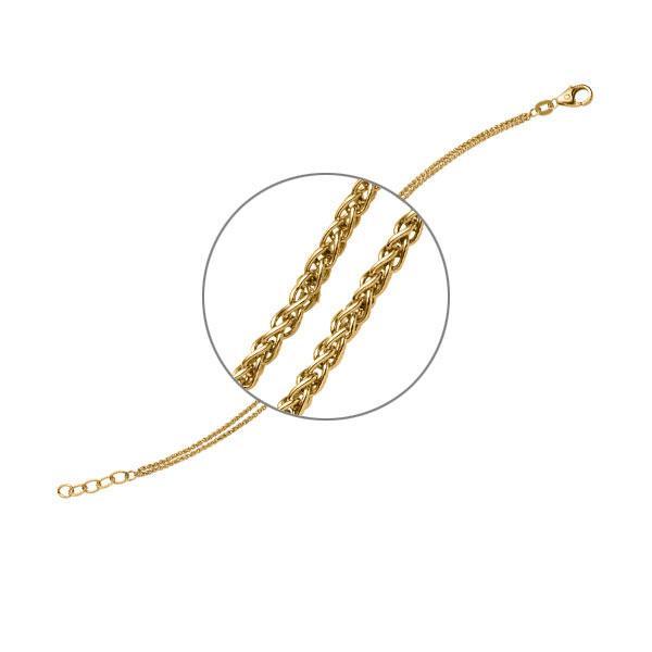 Armband in Gelbgold 585 von acredo - A-ZTYVK-G5