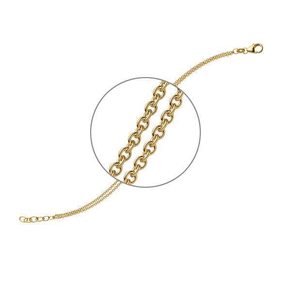 Armband in Gelbgold 585 von acredo - A-ZTYZZ-G5