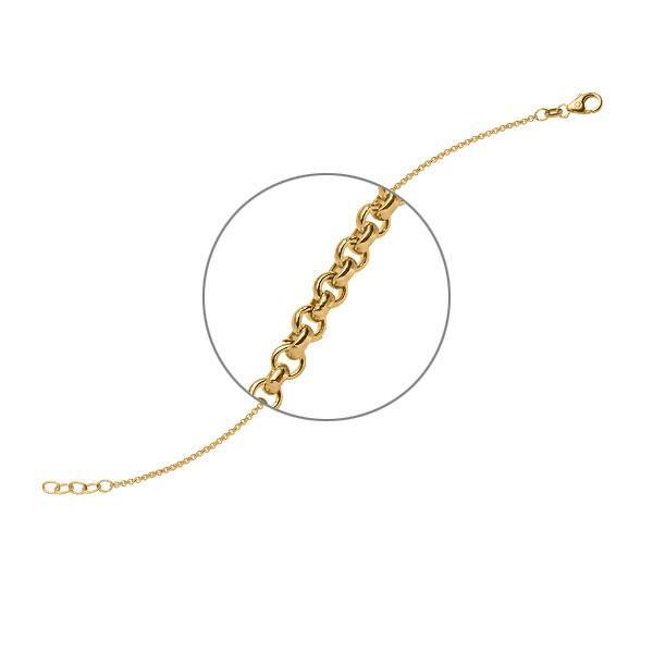 Armband in Gelbgold 585 von acredo - A-ZTZ30-G5